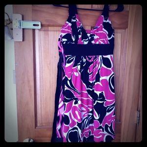 Flower print summer dress